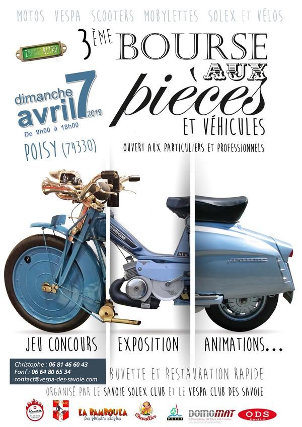 """Bourse aux pièces """"2 roues Rétro"""" à Poisy"""